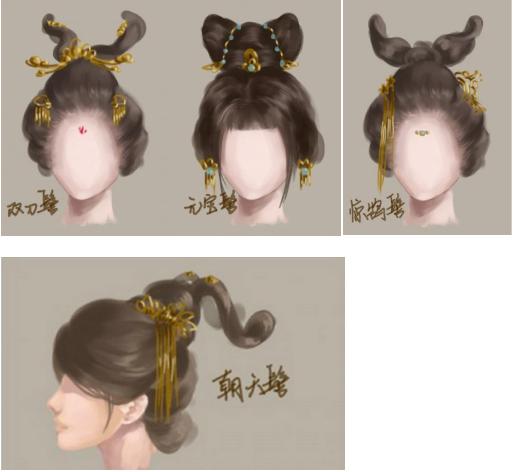 古代发型图鉴分享展示