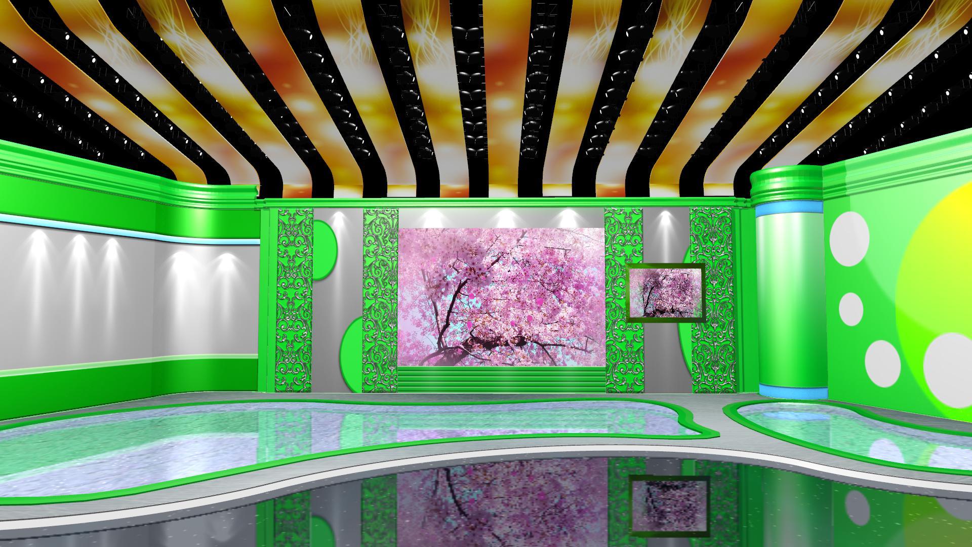 绿色心情舞台模板