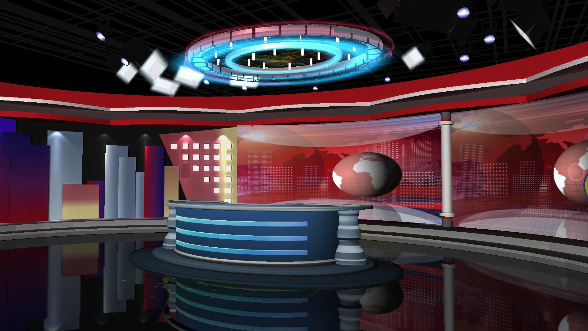 环球纵览新闻直播间模板